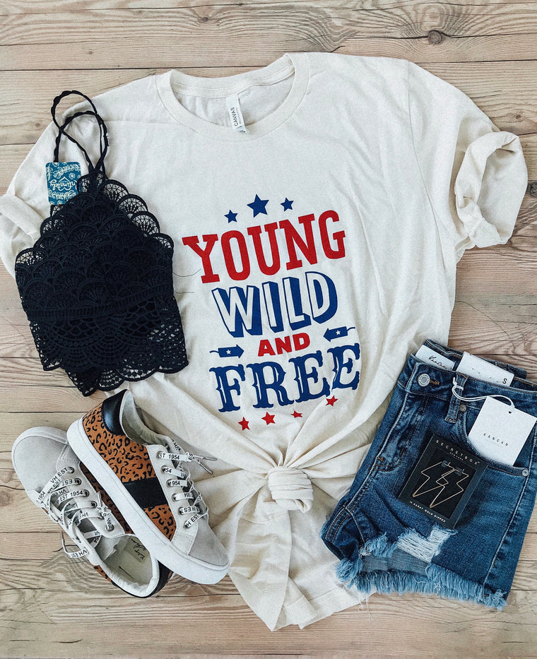 Young Wild And Free Graphic Tee