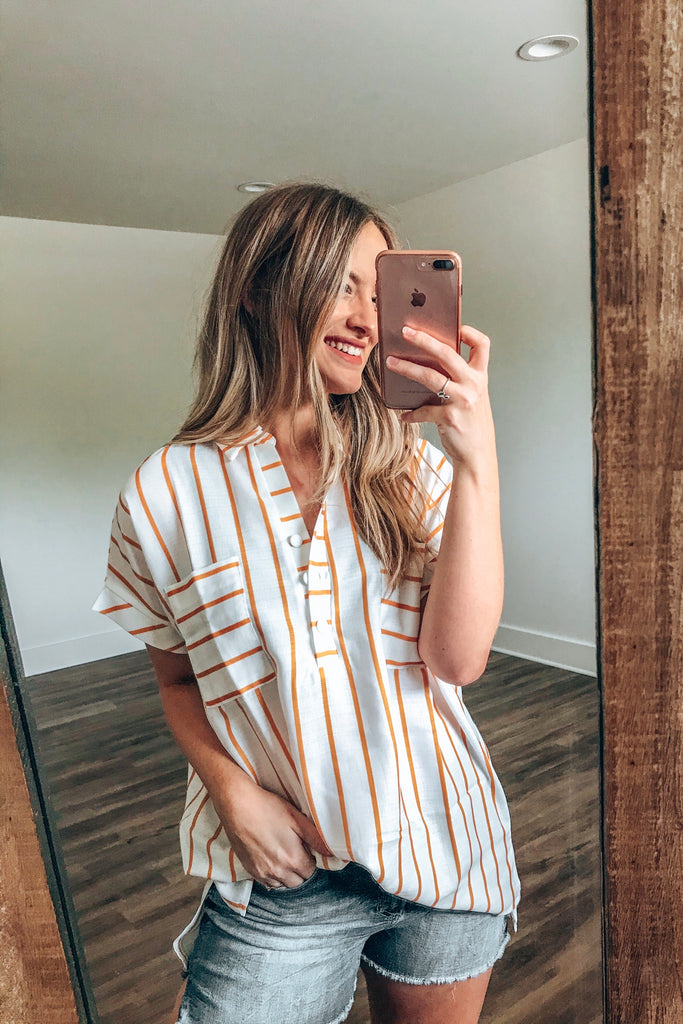 Like A Melody Striped Top