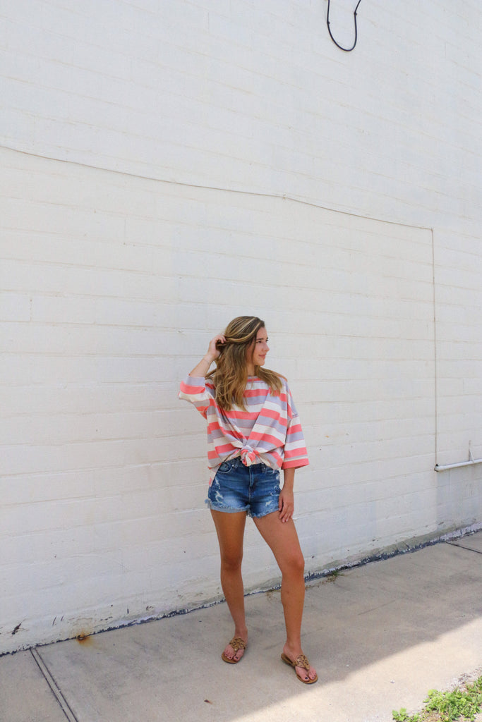Chill Out Striped Oversized Top