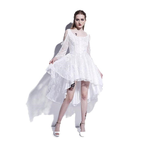 White Lace Gothic Dress