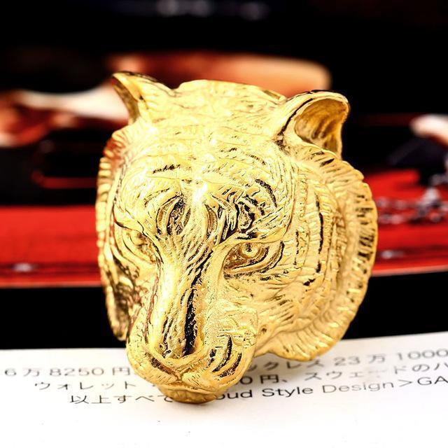 3D Gold Or Black Tiger Head Bands-7-Gold-
