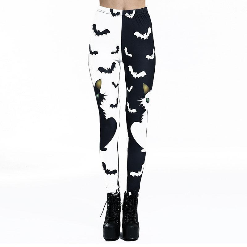 3D Print Bats Cats Leggings-S-