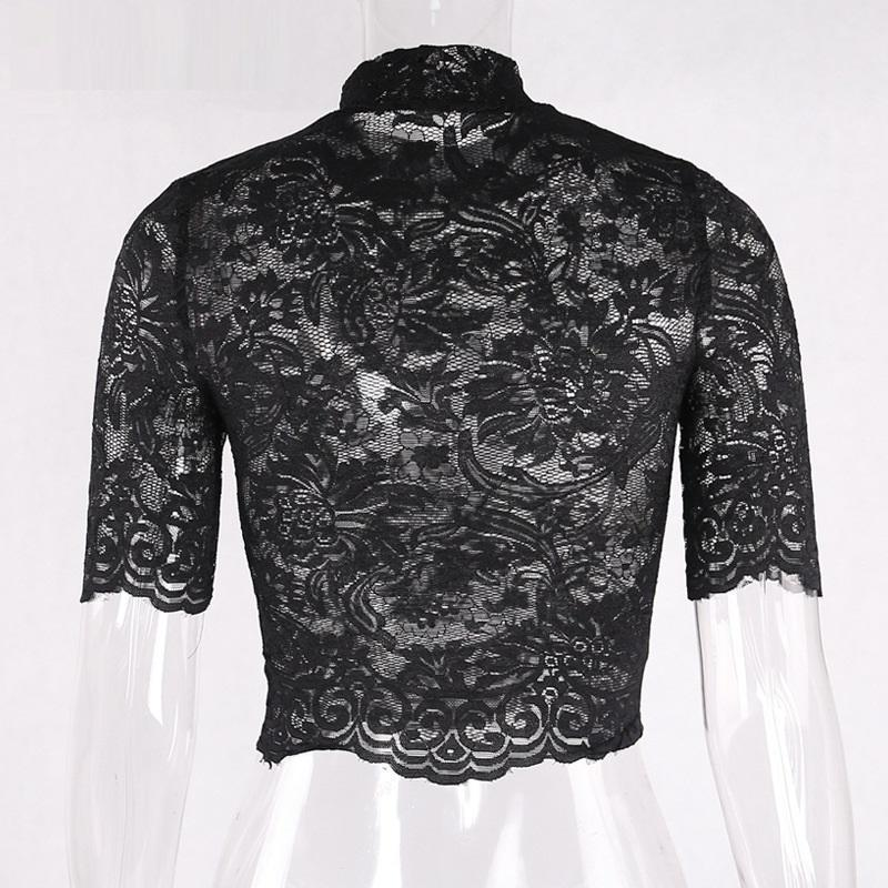 Hot Gothic Lace Crop Top - The Black Ravens