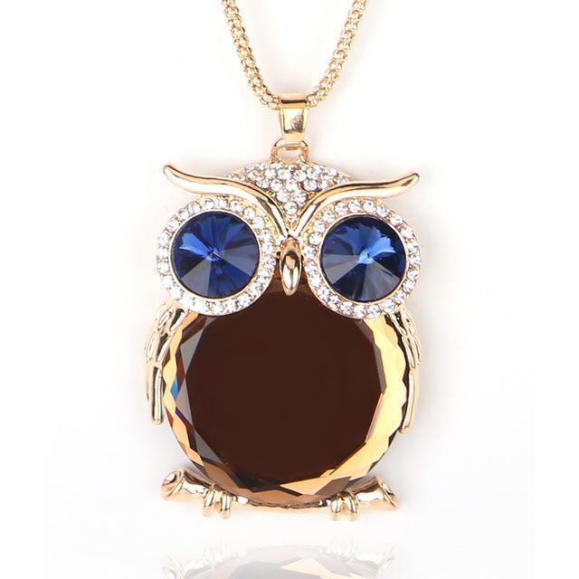 Adorable Women's Natural Stone Necklace Owls - The Black Ravens