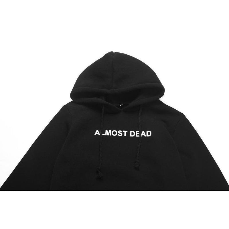 Almost Dead Gothic Unisex Hoodie - The Black Ravens
