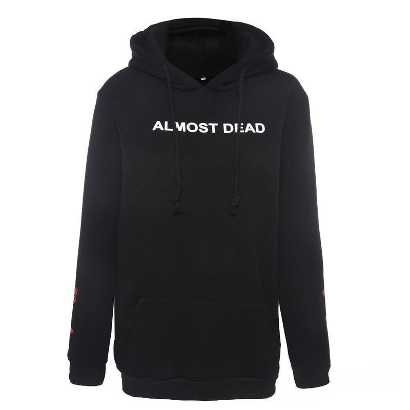 Almost Dead Gothic Unisex Hoodie-S-