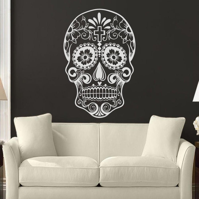 Alternative Floral Skeleton Face Decoration - The Black Ravens