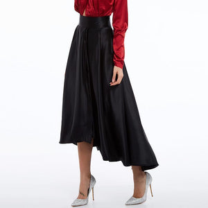 Ankle-Length Traditional Gothic Pleated Skirt-Black-S-