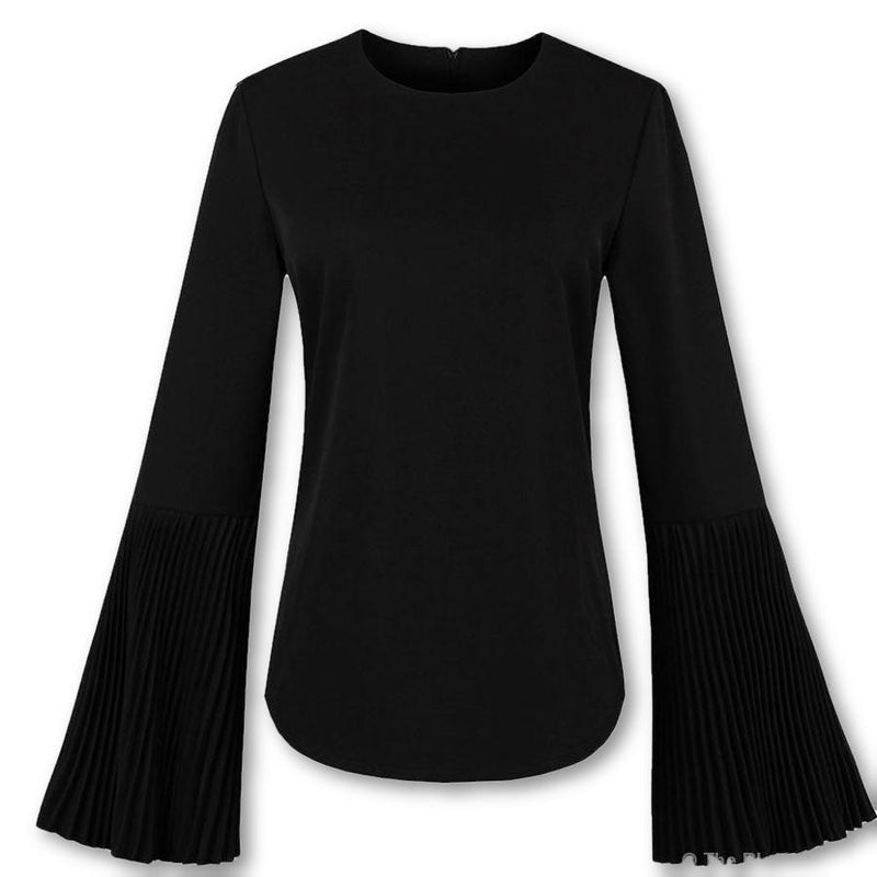 Autumn Gothic Flare Sleeve Blouse Top - The Black Ravens