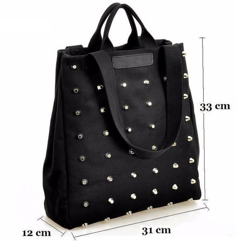 Awesome Faux Leather Gothic Stud Bags - The Black Ravens