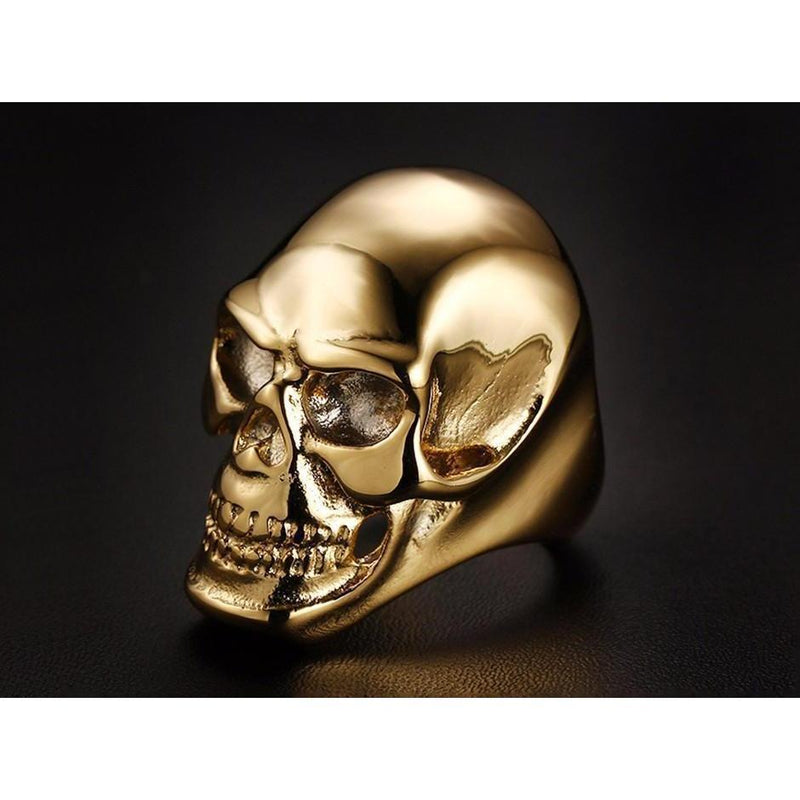 Awesome Men's Black and Gold Evil Rings - The Black Ravens