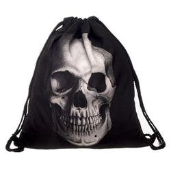 Awesome School, College And Uni Skeleton Head Bag-Skull Face-