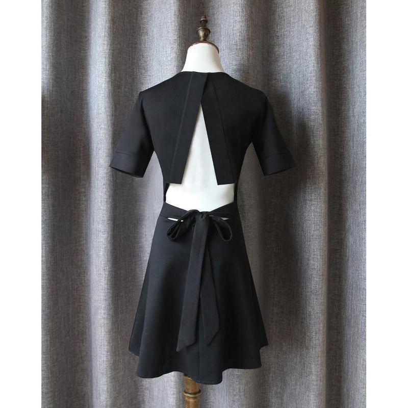 Back Slit Little Goth Dresses - The Black Ravens