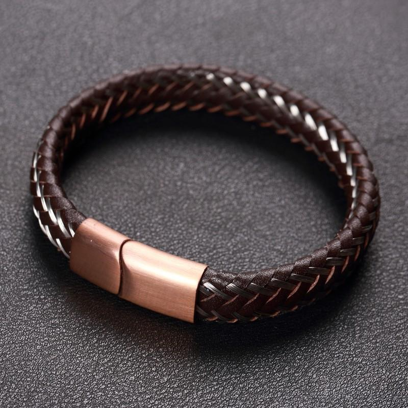Badass Limited Edition Wire Cable Bracelets For Guys-19Cm-Black-