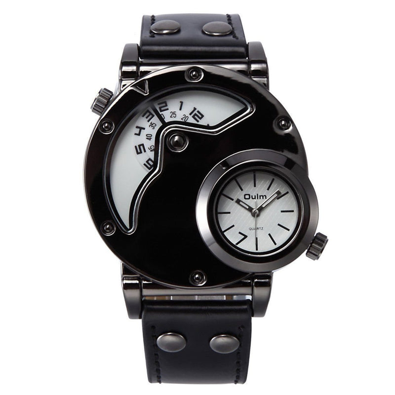 Badass Men's Black, White & Brown Water-Resistant Classic Timepiece - The Black Ravens