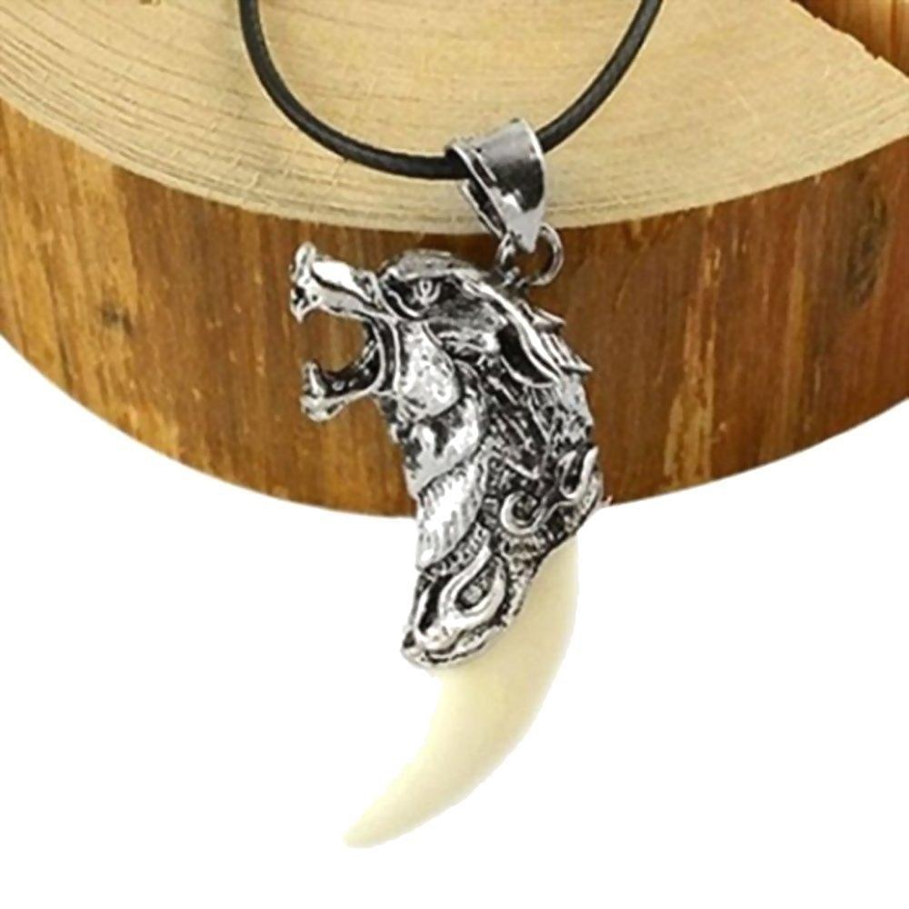 Badass Wolves Teeth Charm Necklaces - The Black Ravens