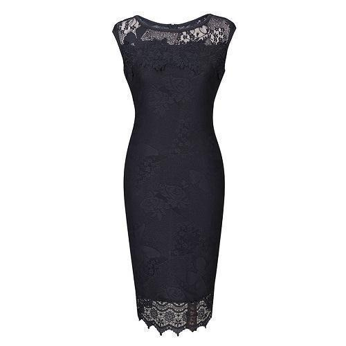 Beautiful and Classy Vintage Pencil Dress - The Black Ravens