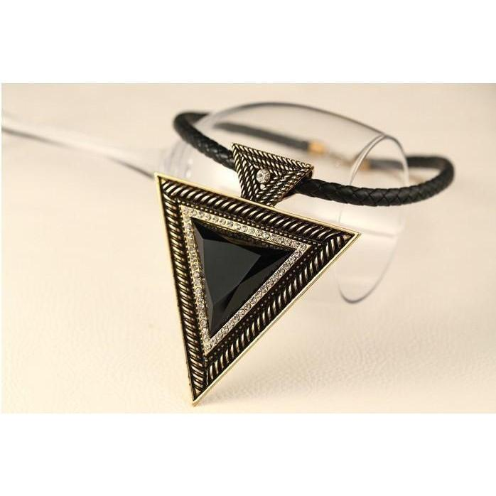 Beautiful Black Triangular Pendants For Women - The Black Ravens