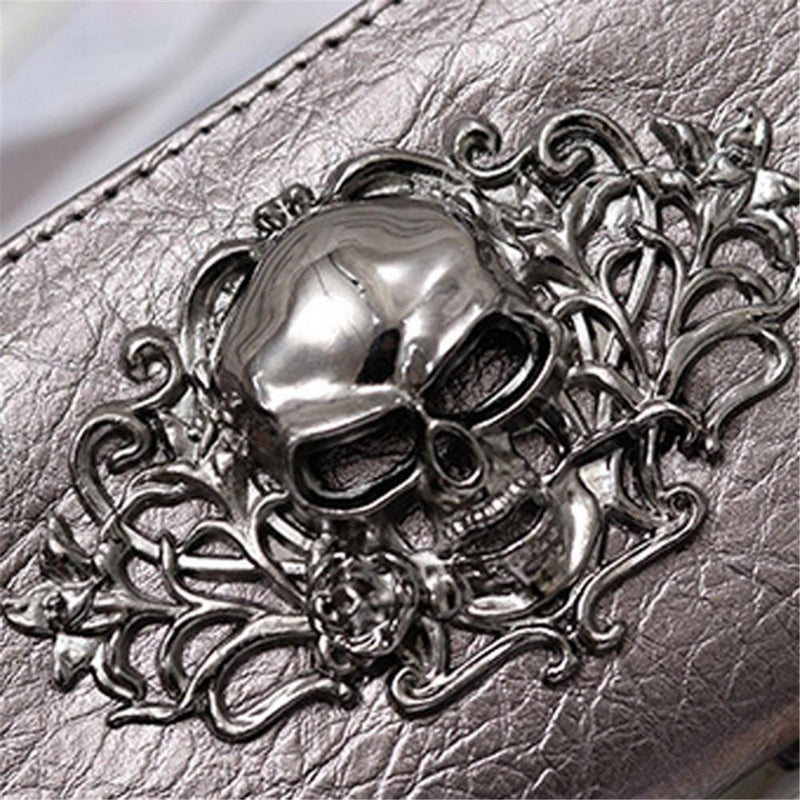 Beautiful Emo Skeleton Head Purses - The Black Ravens