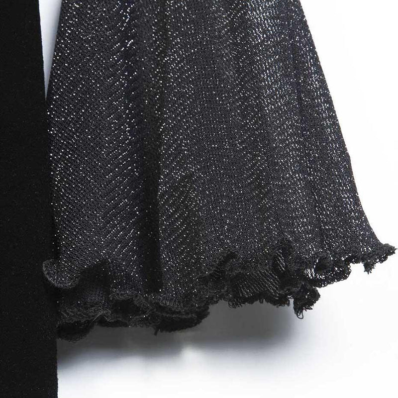 Beautiful Gothic Mesh Sleeves Party Dress - The Black Ravens