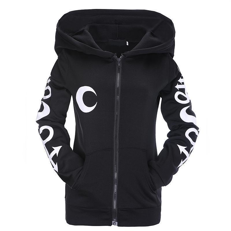 Beautiful Gothic Witch Zip Up Hoodie-XL-