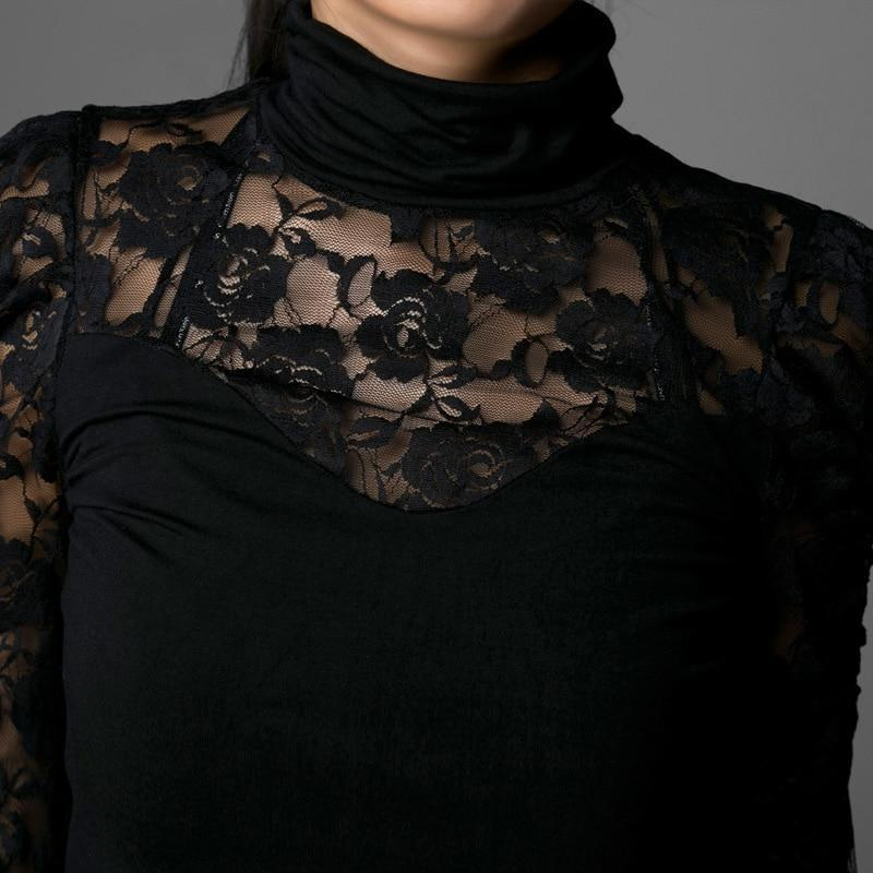 Beautiful Rose Pattern Full Sleeve Top - The Black Ravens