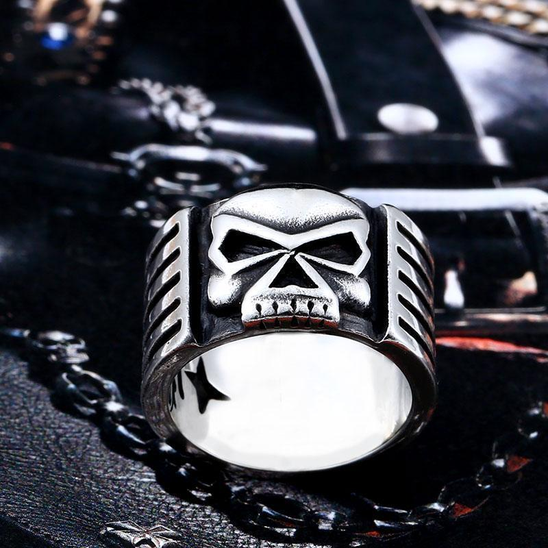 Biker's Skeleton Ring For Men - The Black Ravens