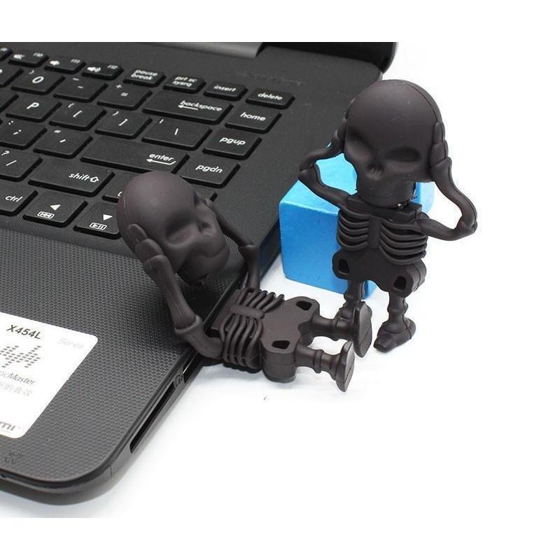Black Funny Punk Skull USB Stick-4Gb-