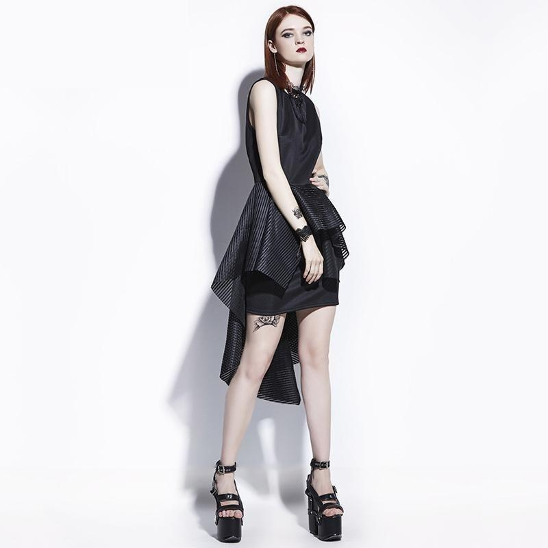 Black Gothic Bodycon Sheath Dress - The Black Ravens