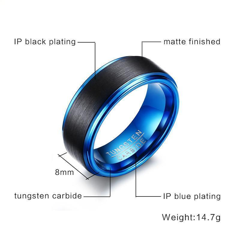 Black Matte Scratch-Proof Band For Men And Women-7-