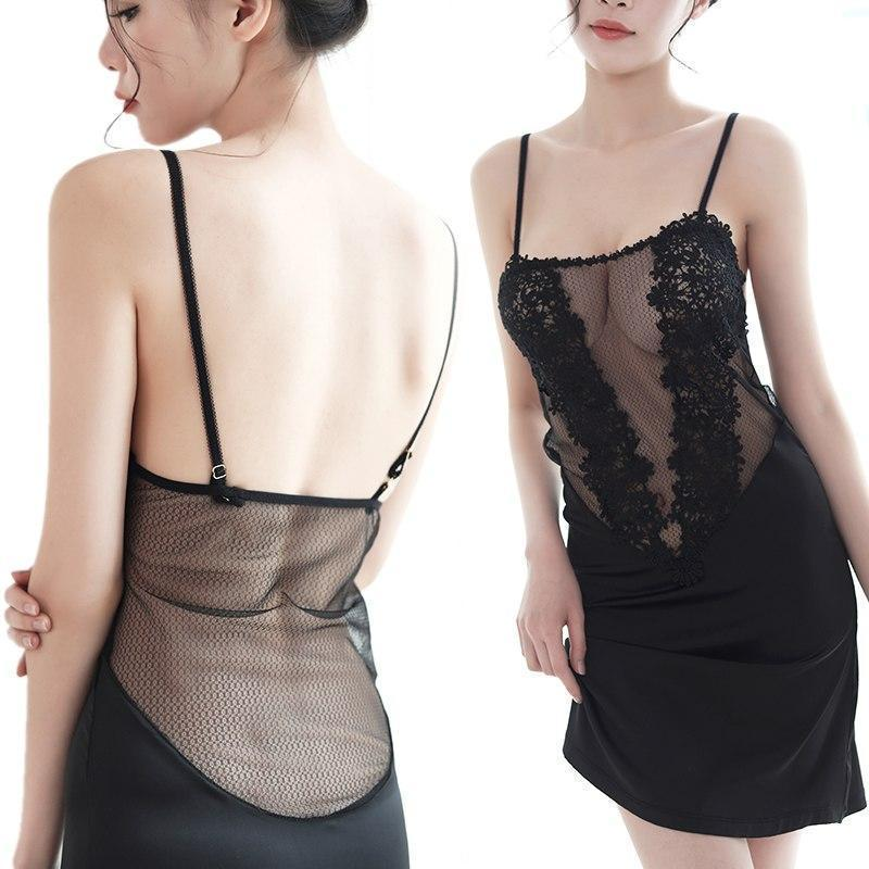 Black Sexy Nightgown For Ladies - The Black Ravens