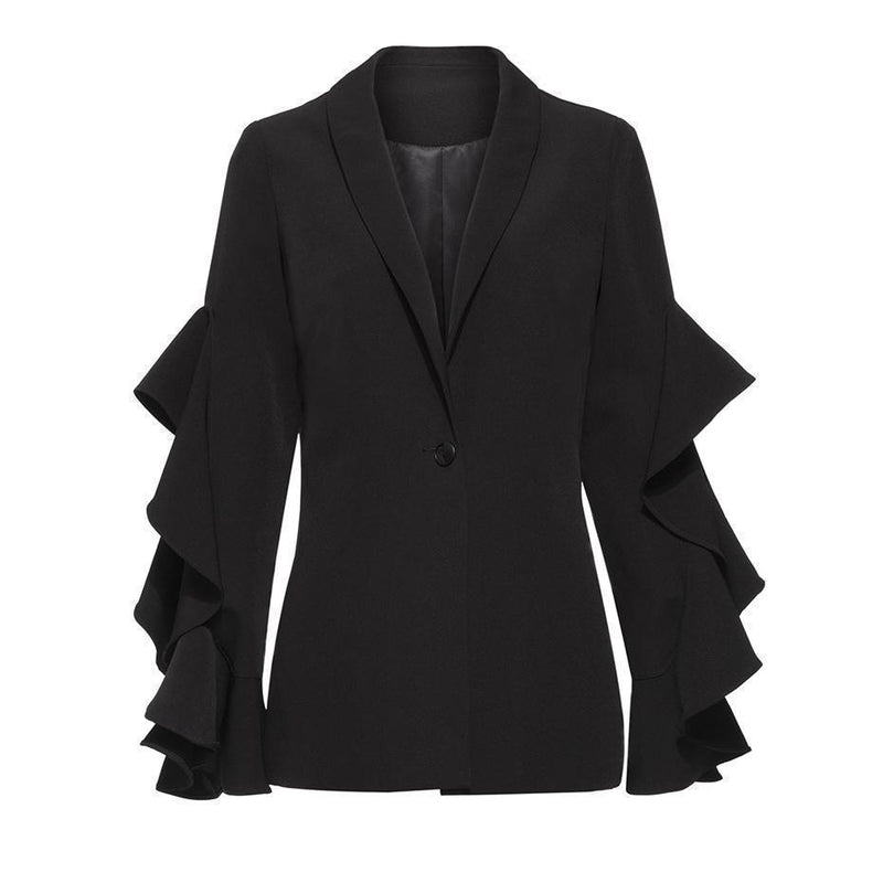 Black Witches Office Jacket-Black-M-