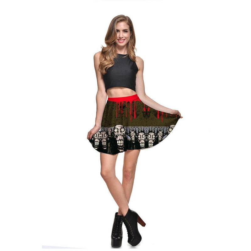 Bleeding High-Waist Skirts For Women - The Black Ravens