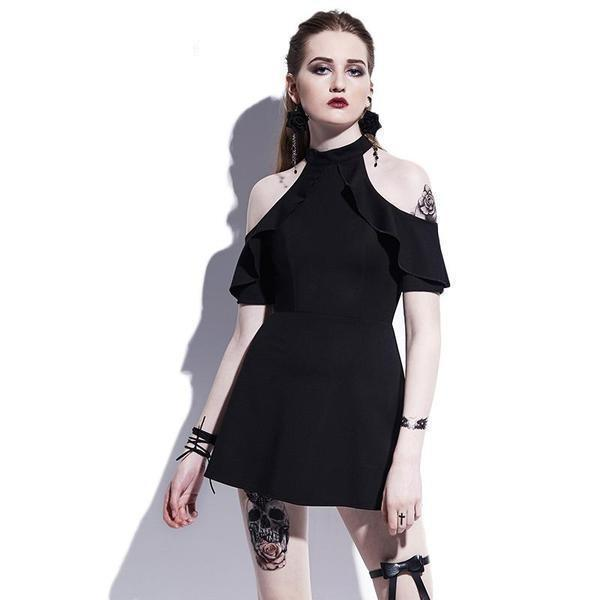 Butterfly Sleeves Ladies' Gothic Dress-S-
