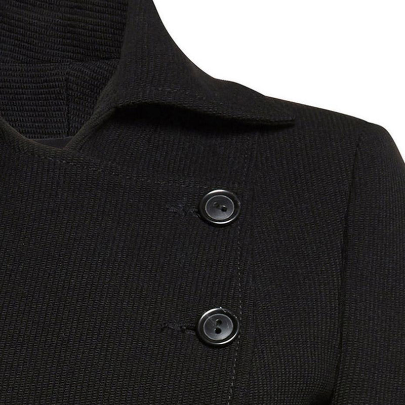 Button Up Fashion Black Jacket - The Black Ravens