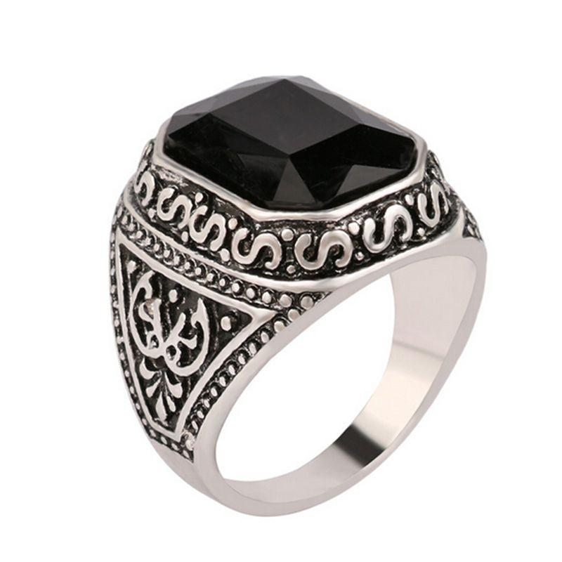 Carved Stone Band-6.5-Black-