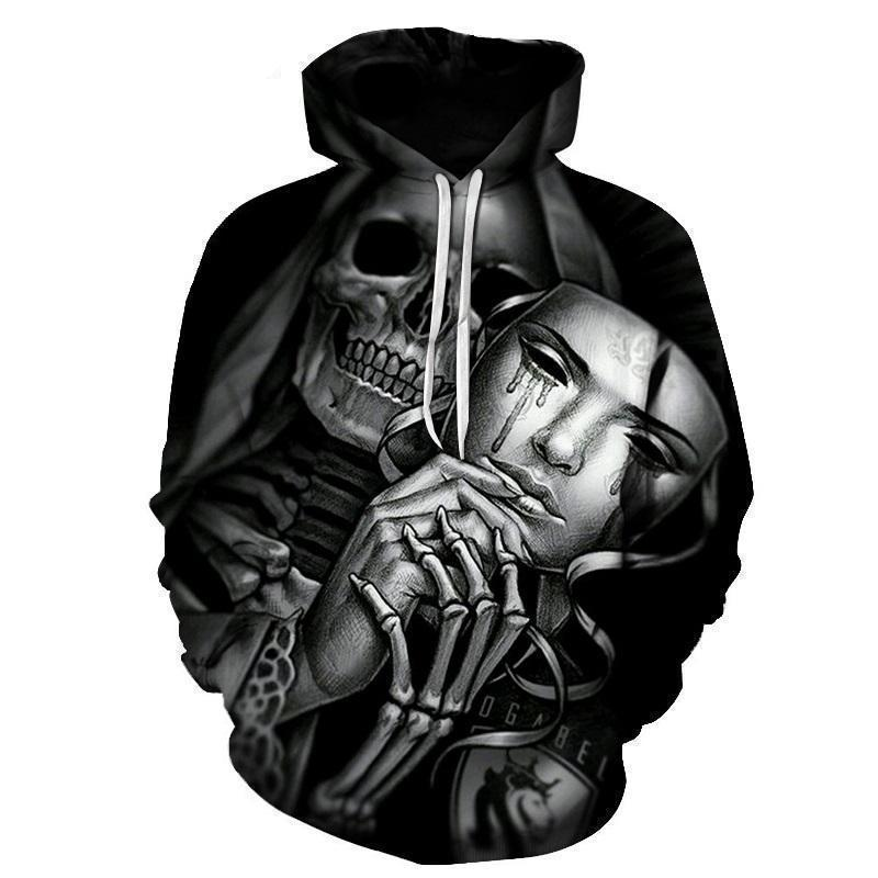 Casual Hooded Tears Of Death Hoodie - The Black Ravens