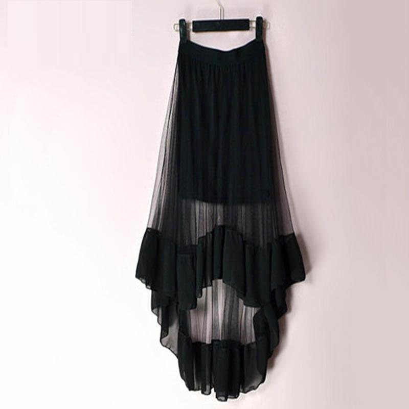 Casual Long Beach Goth Skirt - The Black Ravens