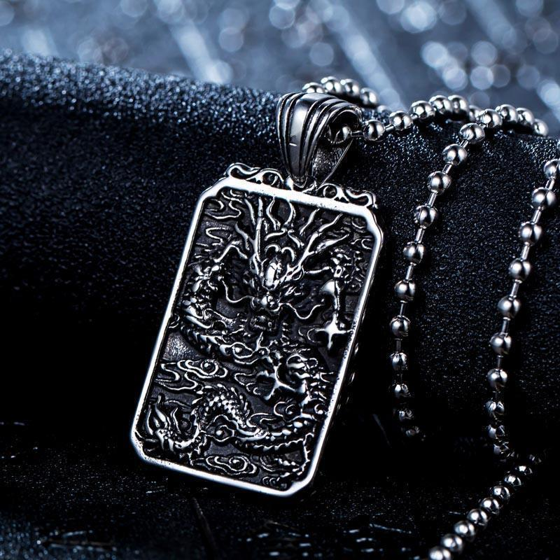 Chinese Dragon Badass Pendant - The Black Ravens