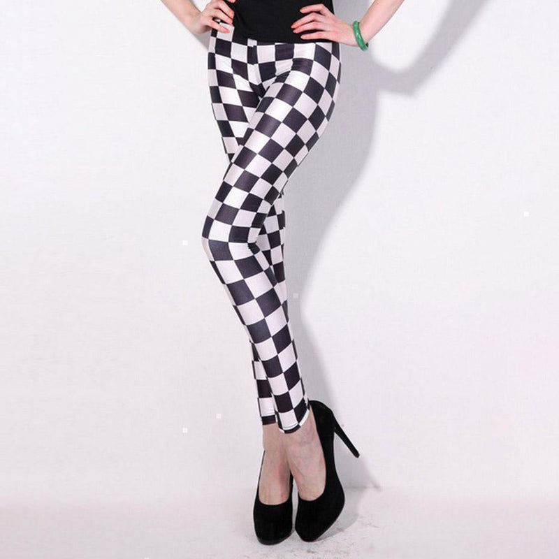 Classic Chequered Chess Board Leggings-