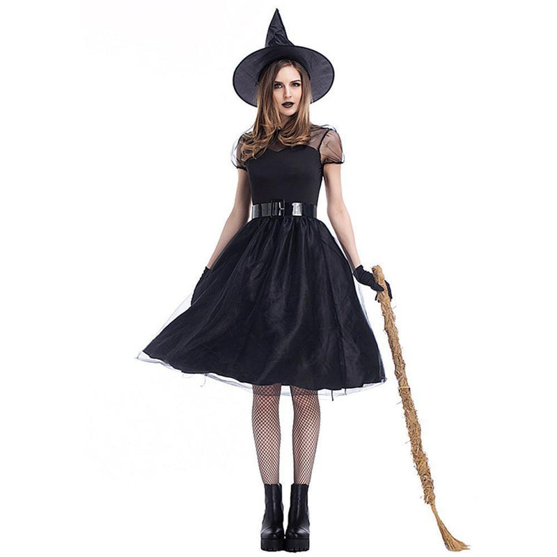 Classic Halloween Gothic Witch Dress Set - The Black Ravens