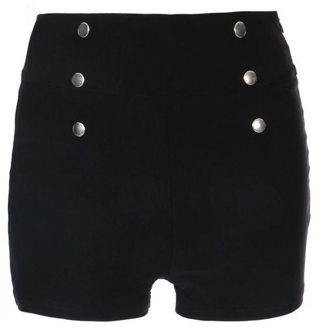 Classy Women's Slim High Waist Shorts - The Black Ravens