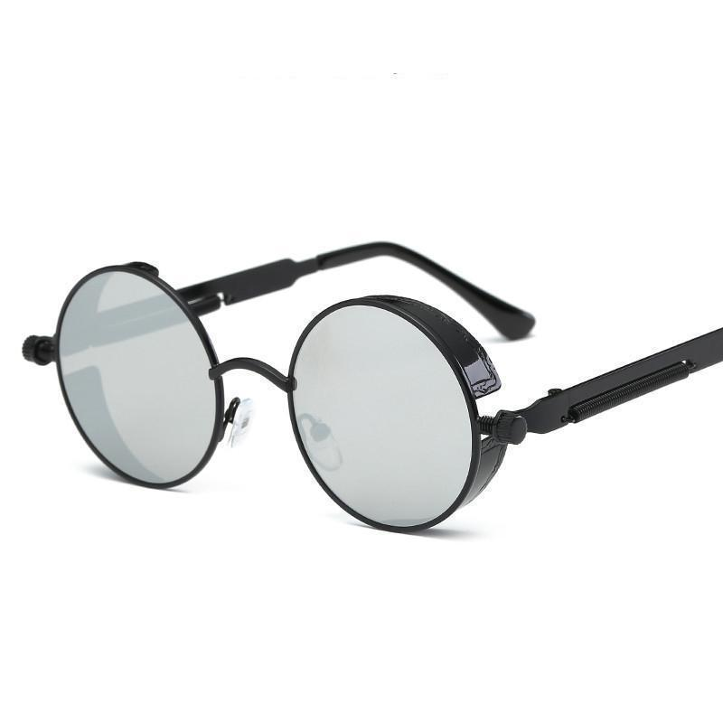 Colored Steam Punk Eye Wear-Black & Silver-