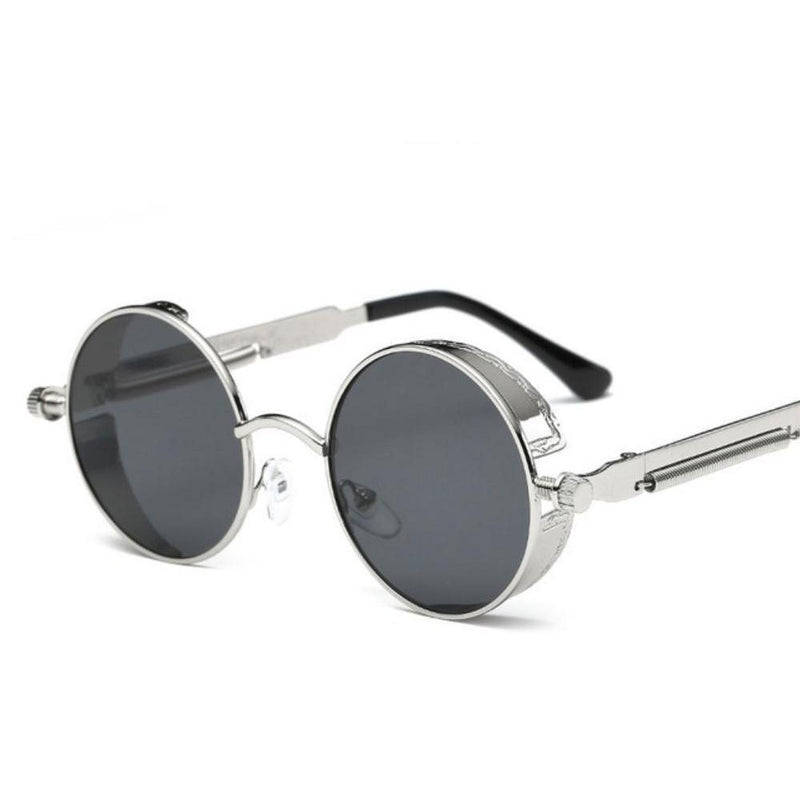 Colored Steam Punk Eye Wear-Silver & Black-