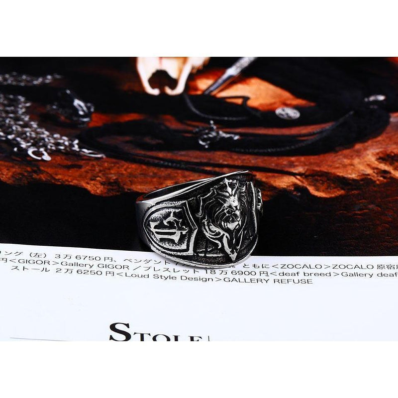 Cool Biker Stainless Steel 3D Lion Ring-7-