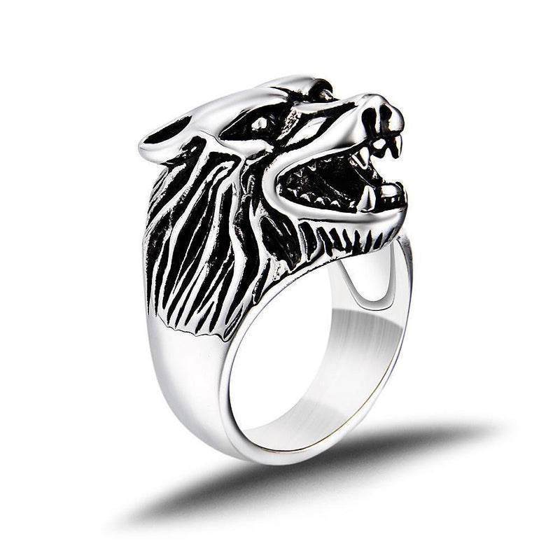 Cool Black, Silver, And Gold Stainless Steel GOT Rings-7-Silver-