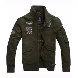 Cool Casual Military Men's Jacket-Army Green-M-
