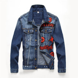 Cool Guys Blue Denim And Red Badge Coat-M-