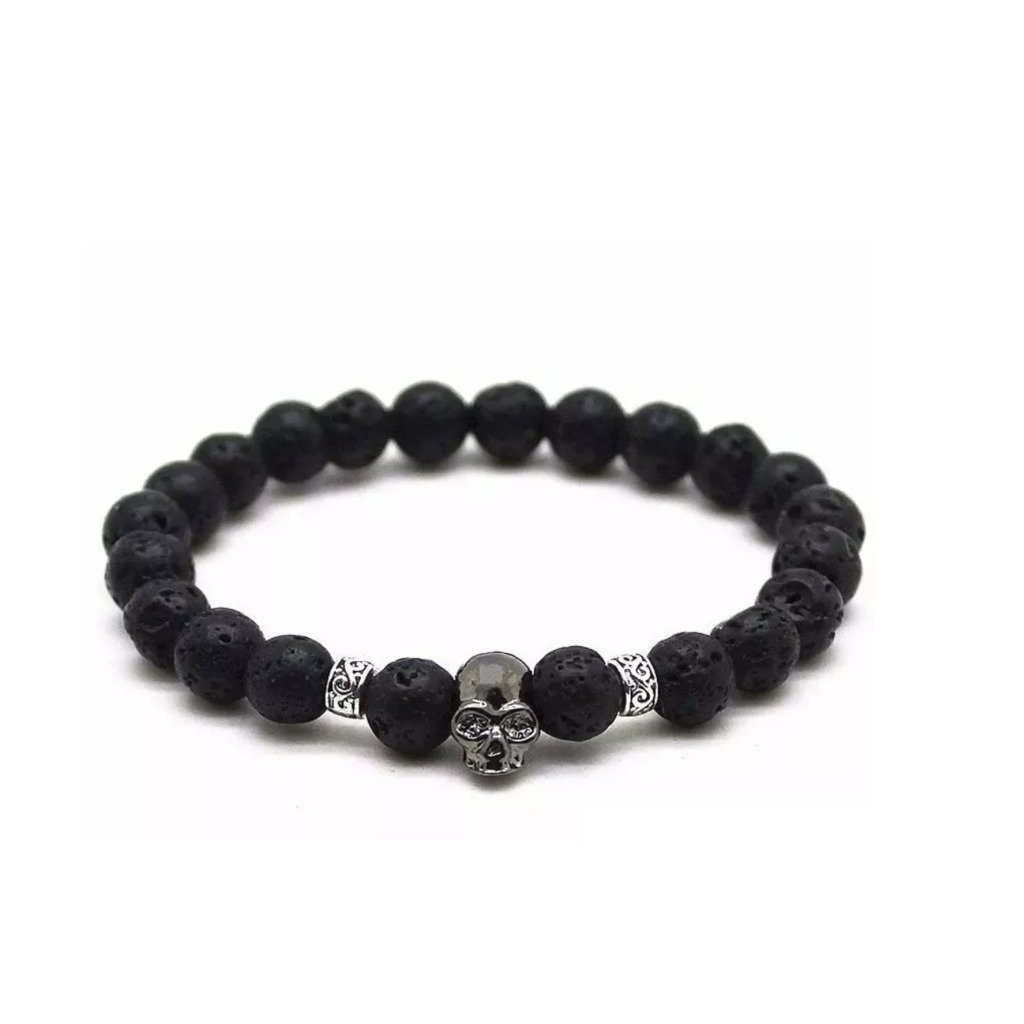 Cool Men & Women's Metallic Bead Charm Bracelets - The Black Ravens