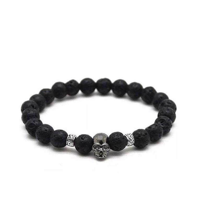 Badass Gothic Cross Skull Charm For Guys
